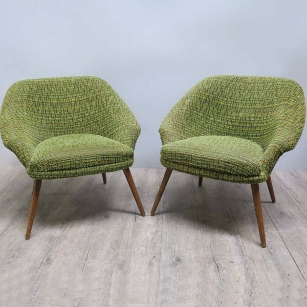 Two green Vintage chairs....