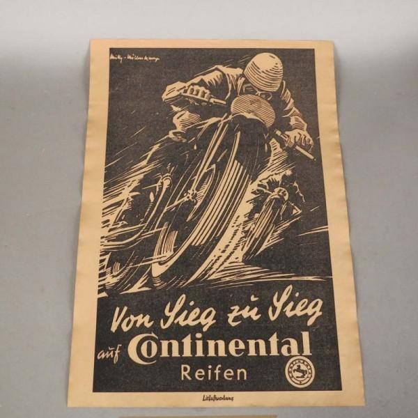 Vintage Plakat Continental...