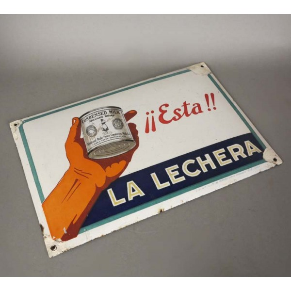 "Enamel sign ""La Lechera -..."
