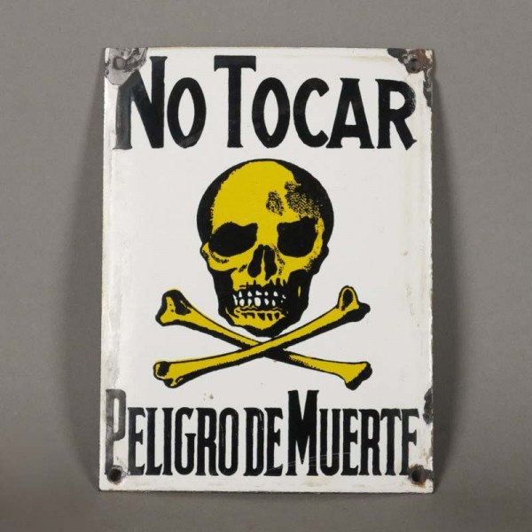 Enamel sign. No Tocar -...