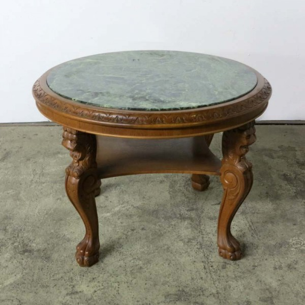 Vintage marble table with...