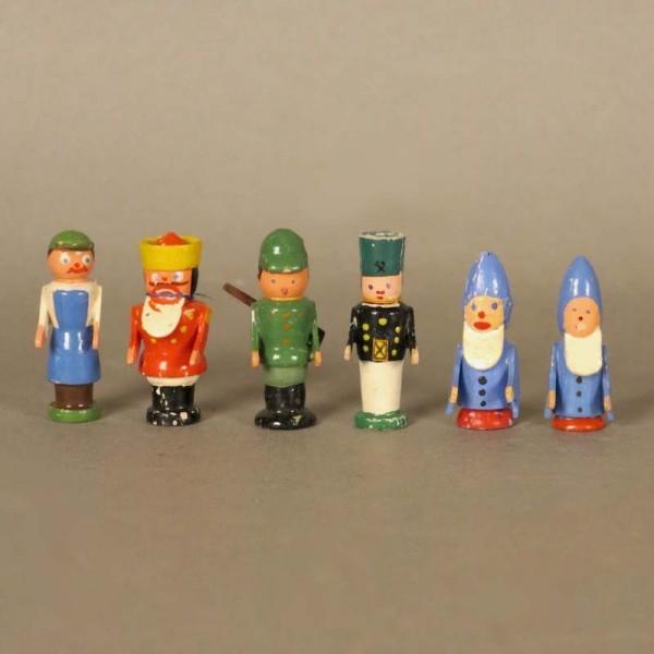 6 Erzgebirge Holzfiguren....