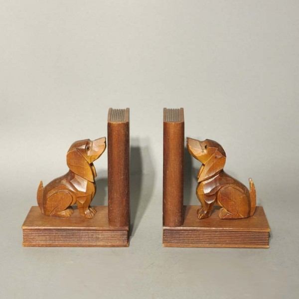 Two Vintage bookends made...