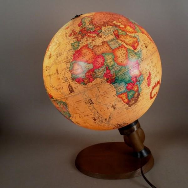 Vintage globe illuminated....