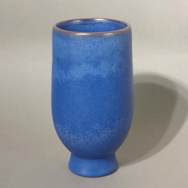Blaue Keramikvase der...