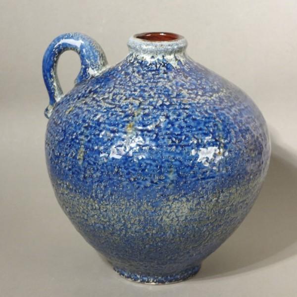 Blaue Vintage Henkelvase...