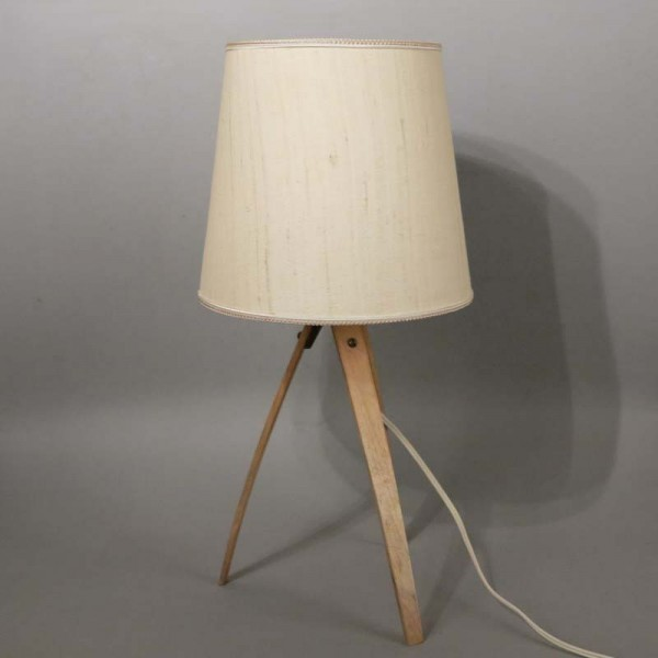Table lamp with curved...