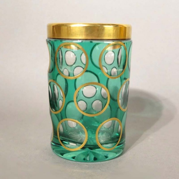 Bohemian glass cup with...