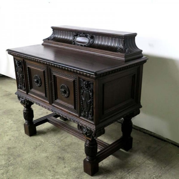 Antique sideboard with many...