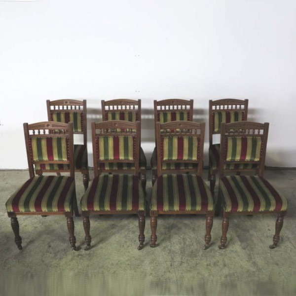 Eight antique chairs by...