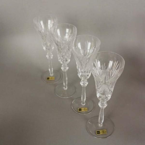 Cuatro copas de cristal de...