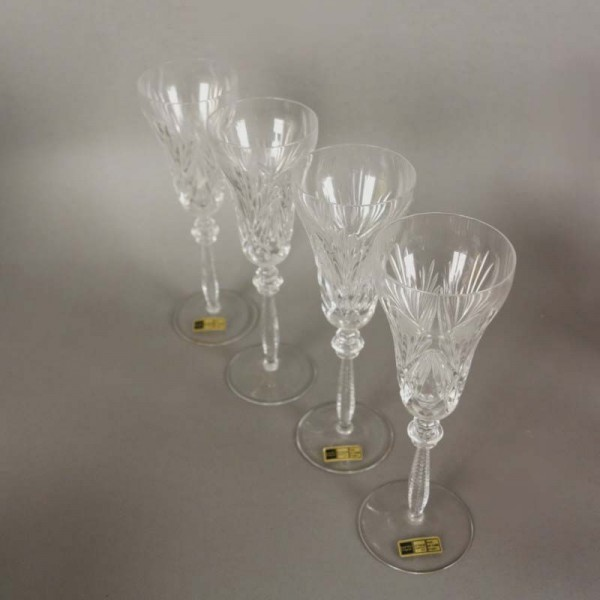 Four lead crystal glasses...
