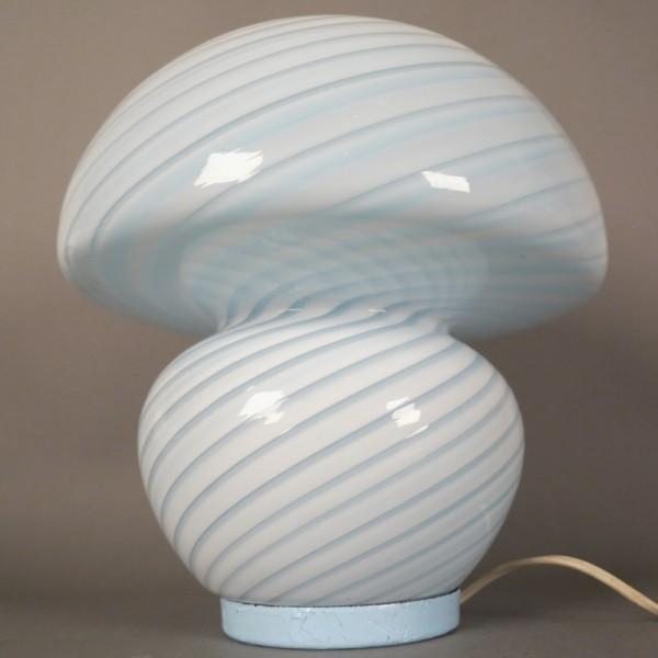 Glas Tischlampe in Pilzform...