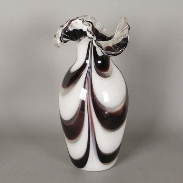 Murano Vase mit gewellten...