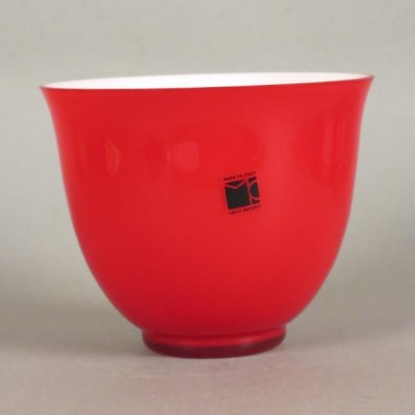Rote Murano Glasschale von...