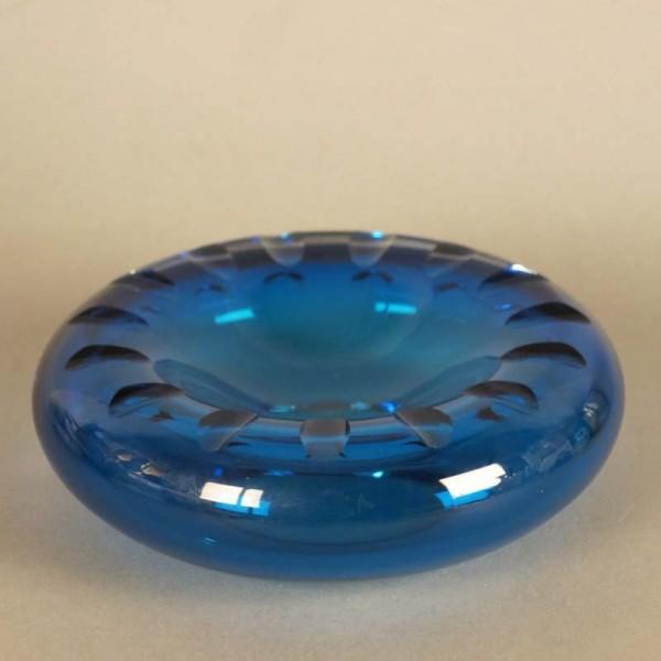 Blaue runde Glasschale....