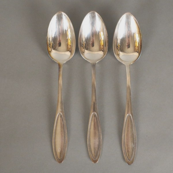 Six spoons silver plated...