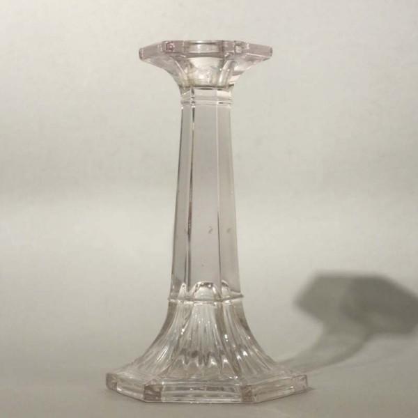 Glass candlestick holder....