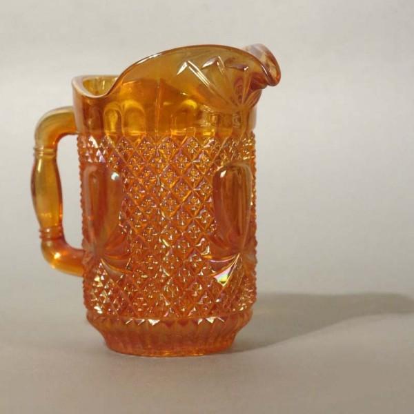 Glas Milchkännchen orange...