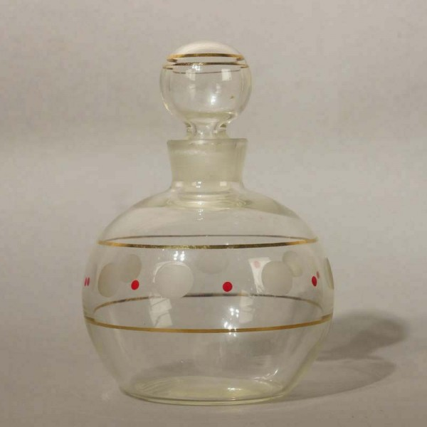 Glass liqueur carafe. 1940...