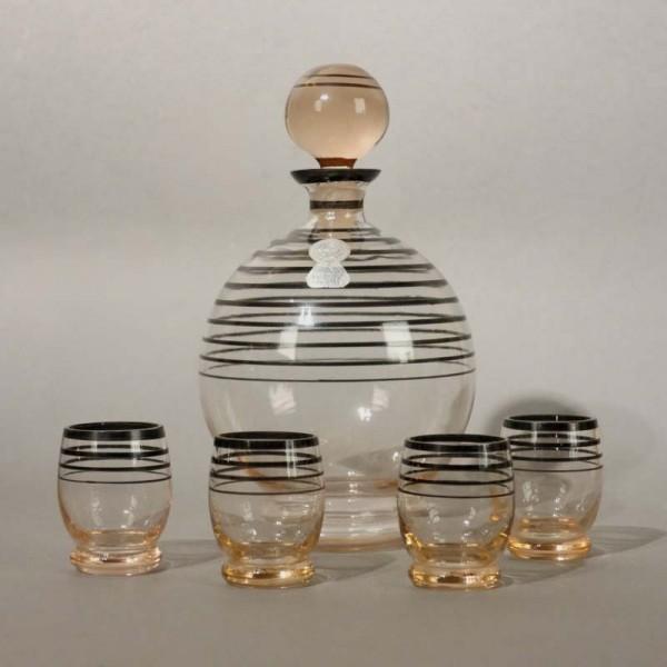 Glass liqueur carafe with...