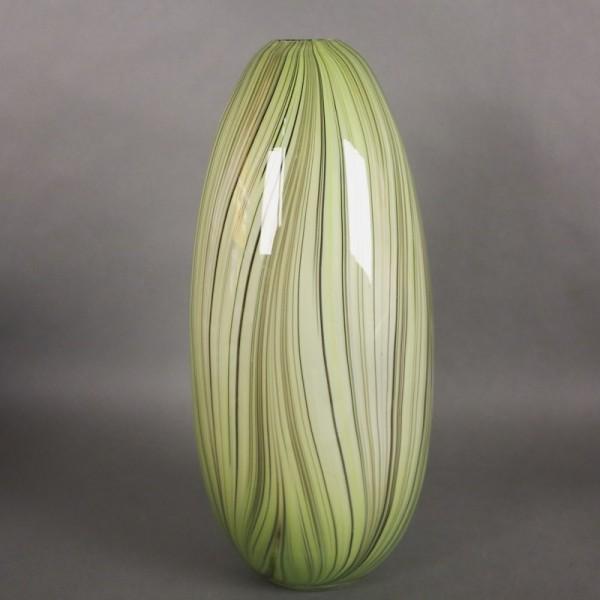 Murano glass vase yellow...