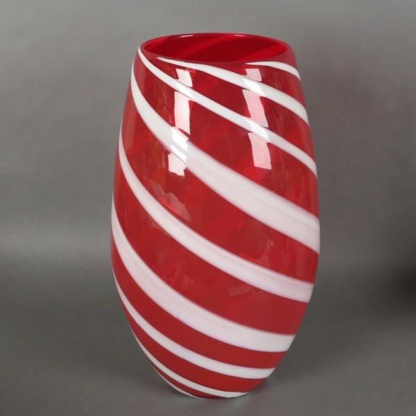 Große Rot - Weiße Murano...