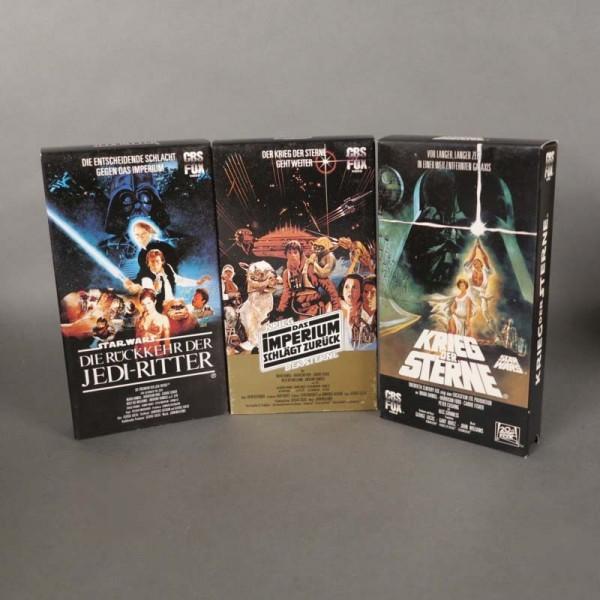 VHS Trilogía de Star Wars...