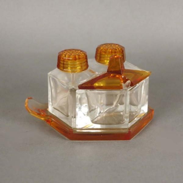 Juego de cristal Art Deco...