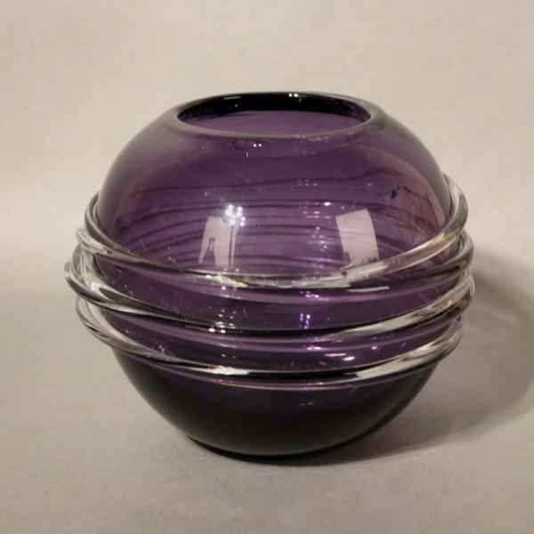 Violet glass vase with...