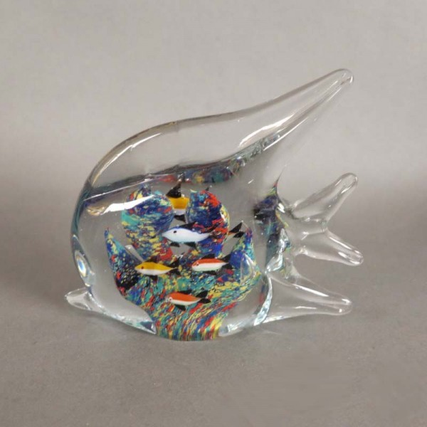 Murano glass paperweight...