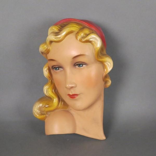 Vintage Ceramic wall mask....