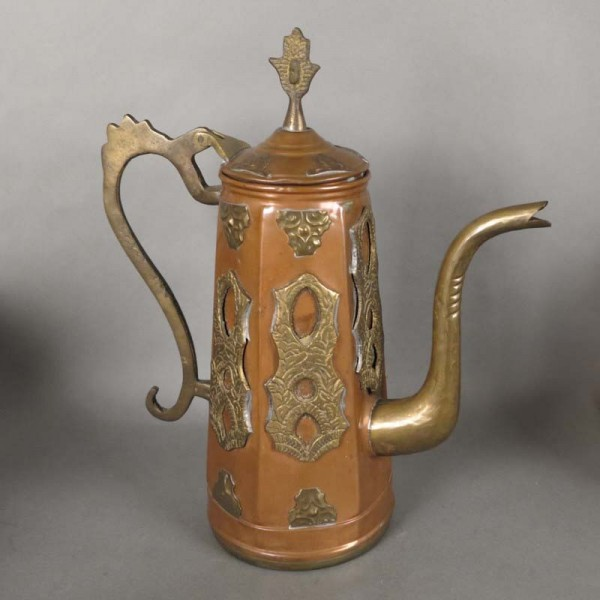 Art Nouveau copper jug with...