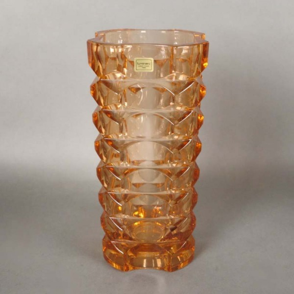 Yellow glass vase from...