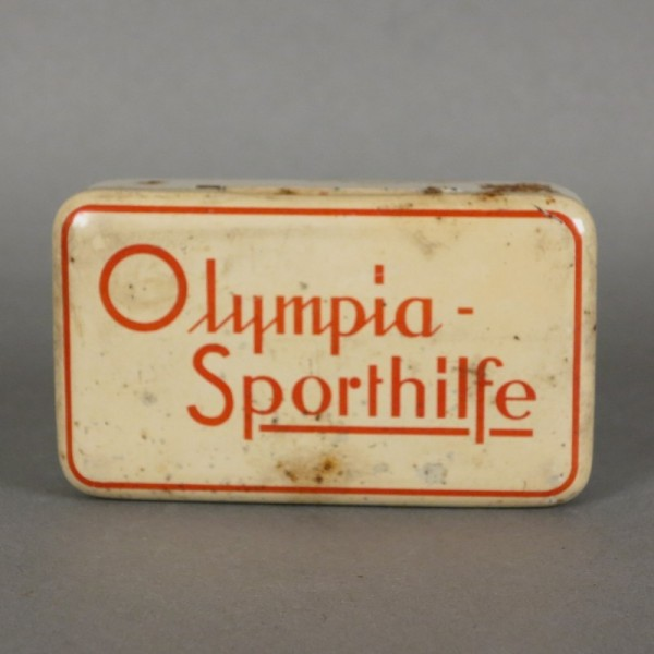 Tin box. Olympic Sports Aid...