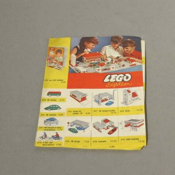 Selten. Lego Plan. 1958 – 1959