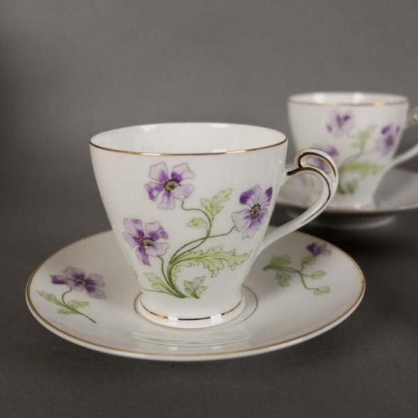 Three Art Nouveau porcelain...