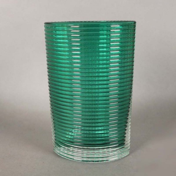 Scandinavian ribbed glass...