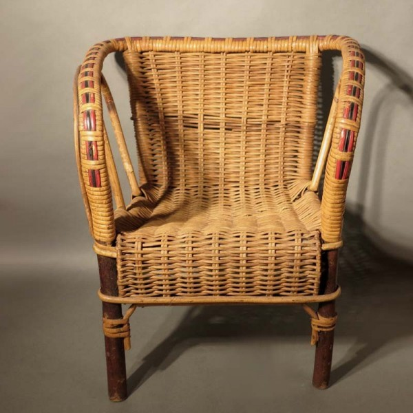 Antique children's rattan...
