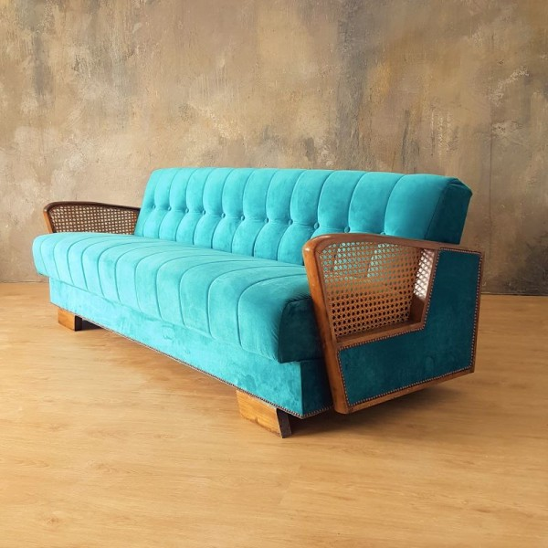 Art Deco sofa bed with...