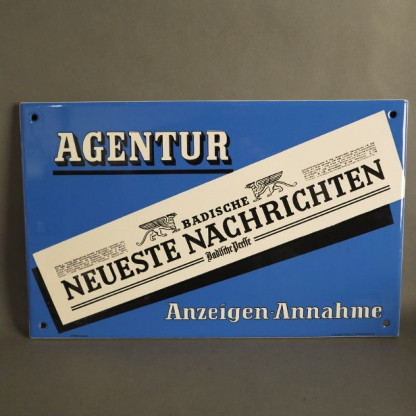 "Advertising sign ""Badische..."