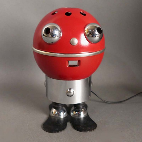 Tischlampe in Roboter-Optik...