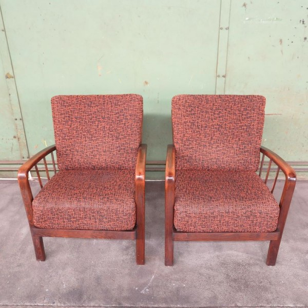 Two Art Deco Armchairs....