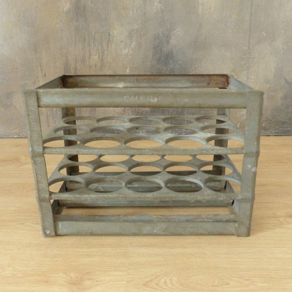 Antique metal beer crate...