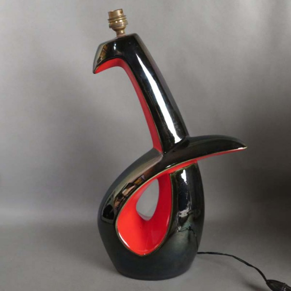 Rare Keramik Tischlampe von...