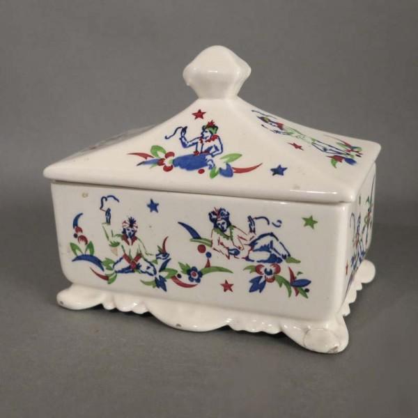 Caja de cerámica con tapa...
