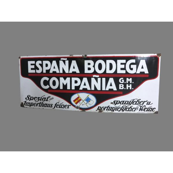 Chapa esmaltada de Bodega...