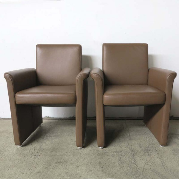 Two Leather Armchairs from...