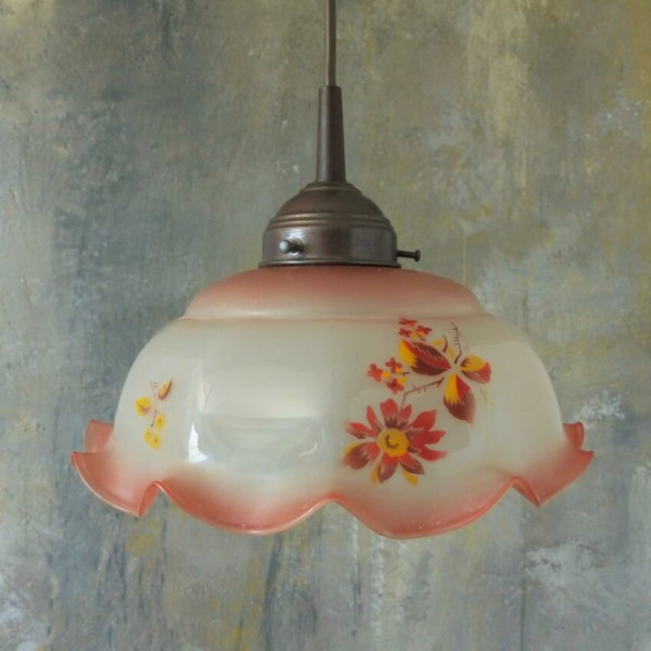 Glass ceiling lamp. 1950 -...