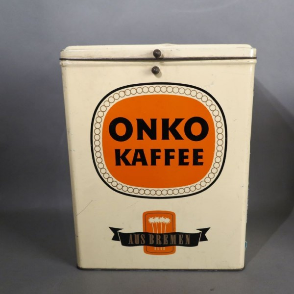 Advertising tin from Onko...